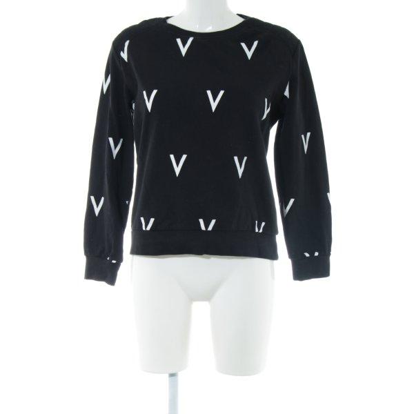 Ivyrevel Sweatshirt schwarz-weiß Allover-Druck Casual-Look