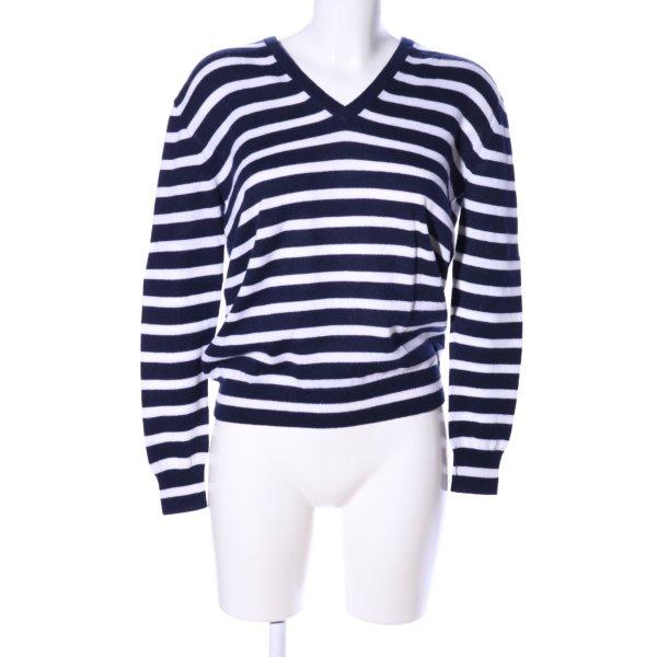 J.crew V-Ausschnitt-Pullover schwarz-weiß Allover-Druck Casual-Look