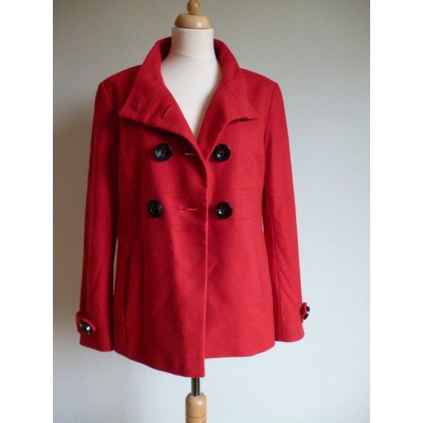 Jacke aus Schurwolle und Kaschmir in Rot