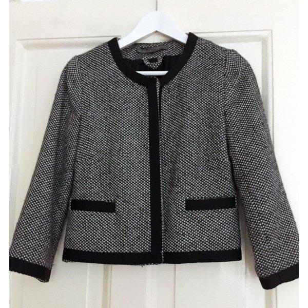 Jacke ZARA Chanel-Style Blazer schwarz weiss M S