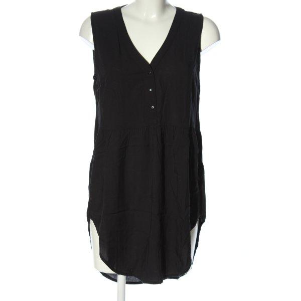 Jacqueline de Yong Long-Bluse schwarz Casual-Look