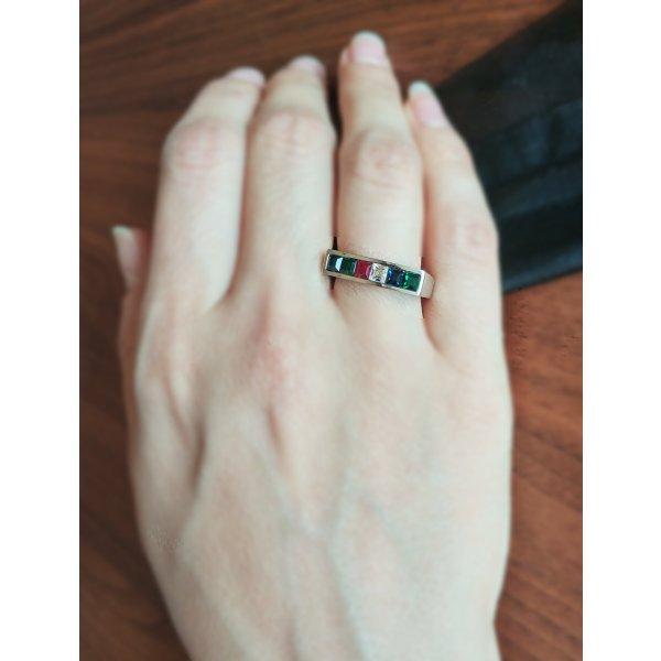 Jacques Lemans Ring mit Swarovski Kristallen !NEU!