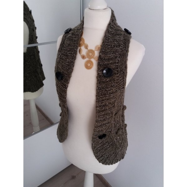 Only Cardigan all'uncinetto verde oliva