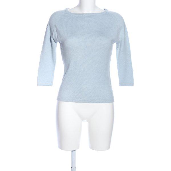 Jake*s Strickshirt blau Casual-Look