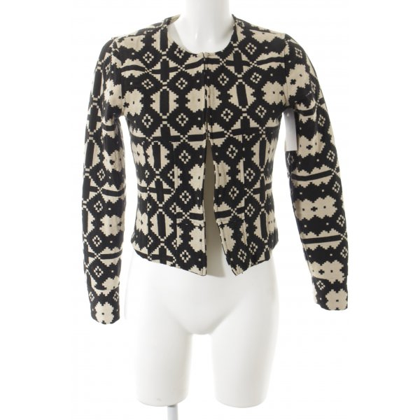 Jake*s Sweat Blazer black-cream abstract pattern casual look