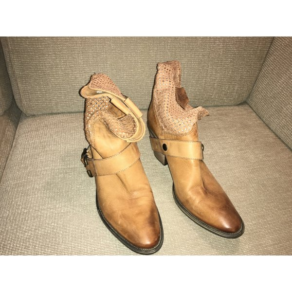 Janet & Janet Booties Lederstiefel Ankle Boots 41