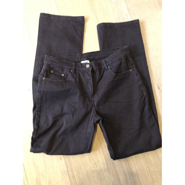 Jeans Hose Denim braun Straight stretch Gr. 38