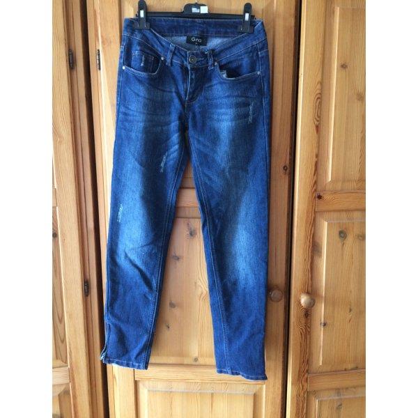 Jeans Hose mit Reißverschluss am Bein