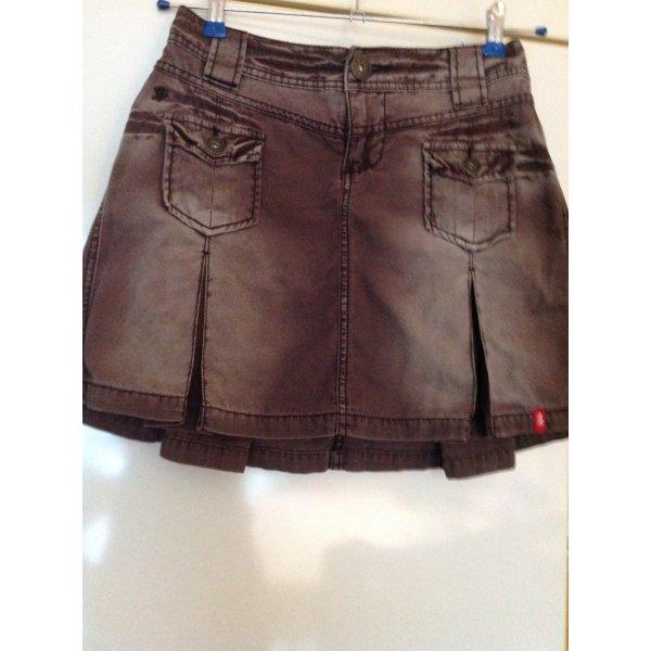 Jeans-Minirock, braun, Gr. 32, von edc