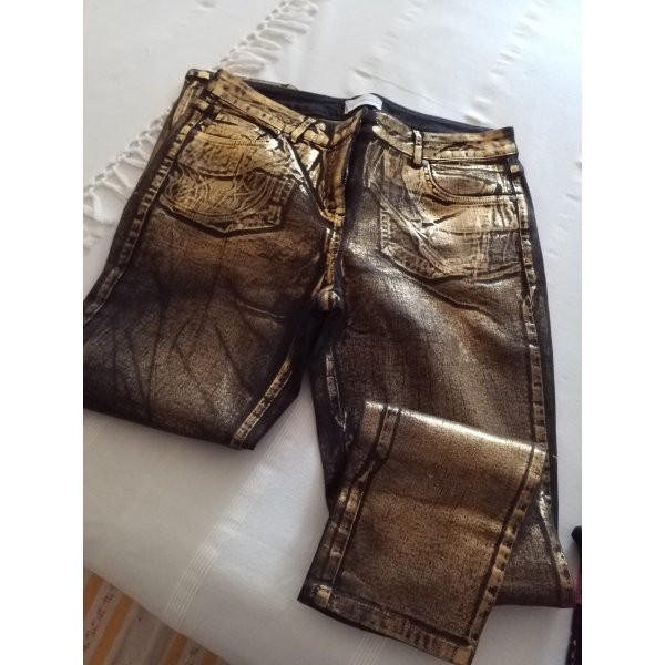 Amy Vermont Pantalone cinque tasche oro