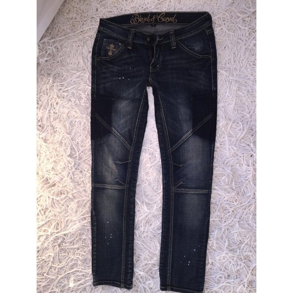 Blessed & Cursed Jeans blu scuro