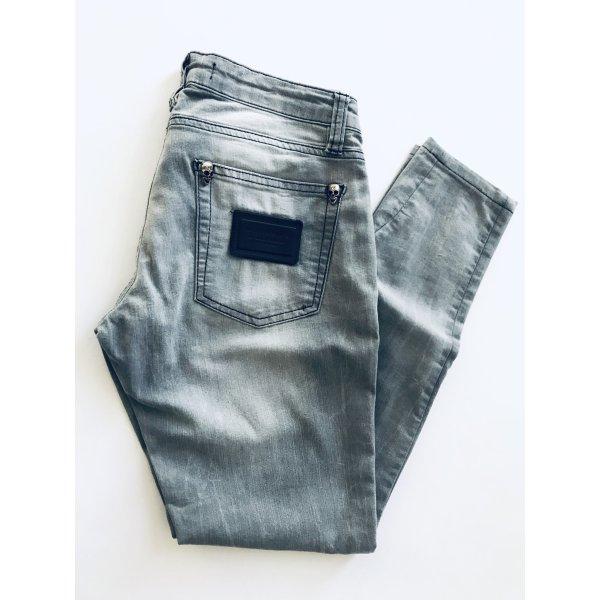 Jeans von Philipp Plein, Röhrenjeans, grau, Gr. S
