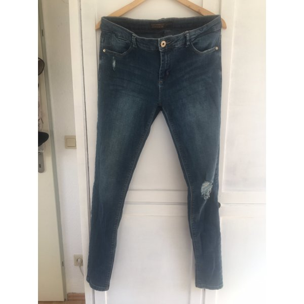 Clockhouse Five-Pocket Trousers slate-gray-azure