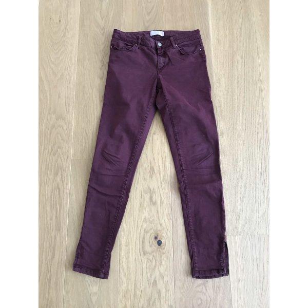 Jeanshose dunkelrot von Zara