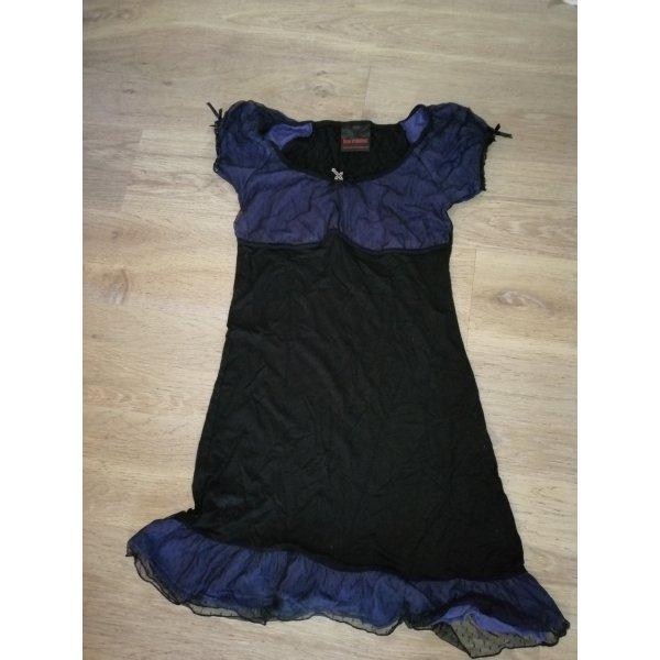 Queen of Darkness Abito jersey nero-viola scuro