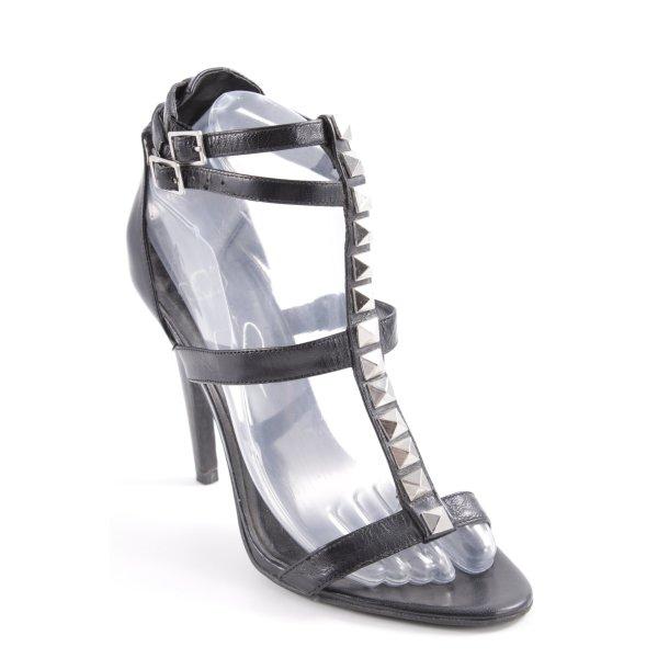 Jessica Simpson Riemchen-Sandaletten schwarz-silberfarben Elegant