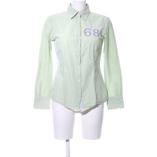 Jette Hemd-Bluse grün-weiß Karomuster Casual-Look
