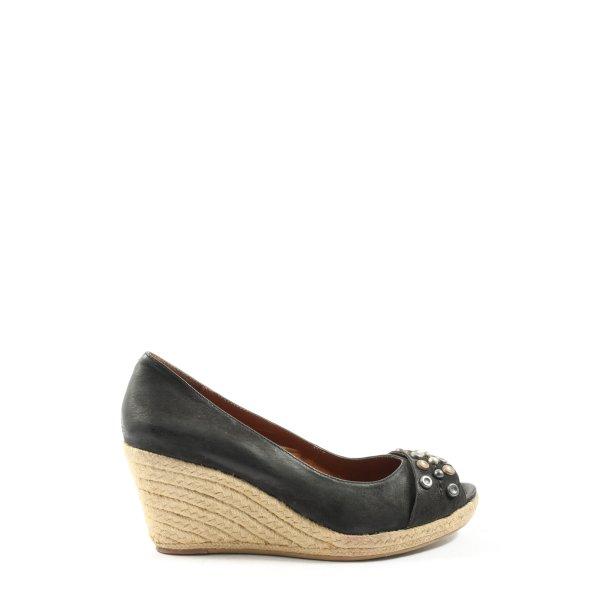Jette Wedges Sandaletten schwarz Business-Look