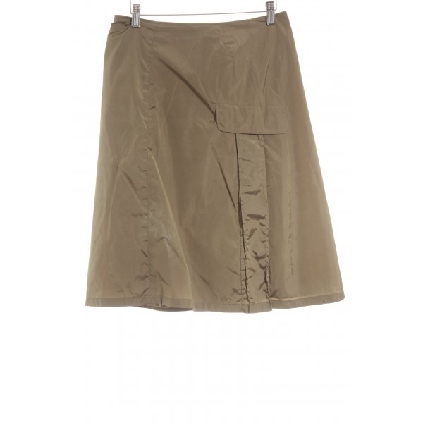 Jil Sander High Waist Rock olivgrün Casual-Look