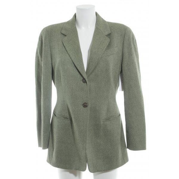 Jil Sander Wool Blazer forest green-natural white flecked country style