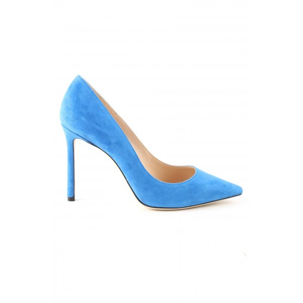 Jimmy Choo Spitz-Pumps blau Business-Look
