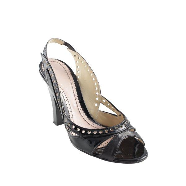 John Galliano High Heels schwarz extravaganter Stil