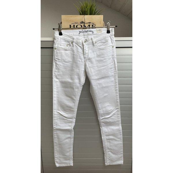Johnnieb Jeans weiß casual-look Größe 28L slim jeans
