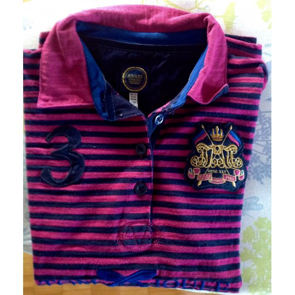 Joules 3 Poloshirt  Pink/blau gestreift