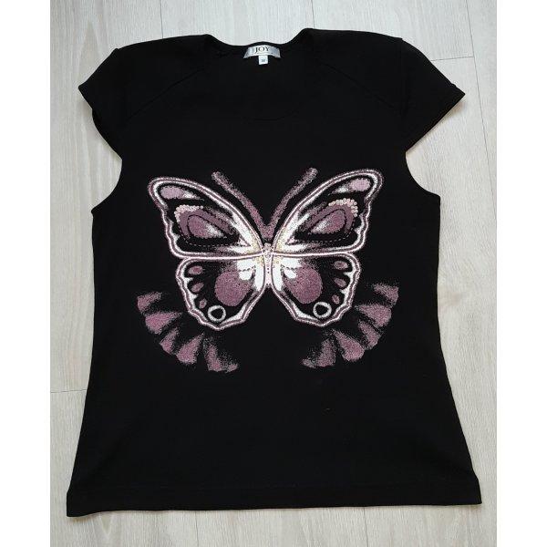 Joy Camiseta estampada negro-violeta Algodón