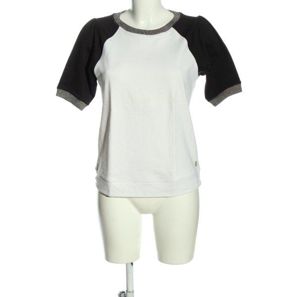 Juicy Couture Kurzarm-Bluse weiß-schwarz Casual-Look