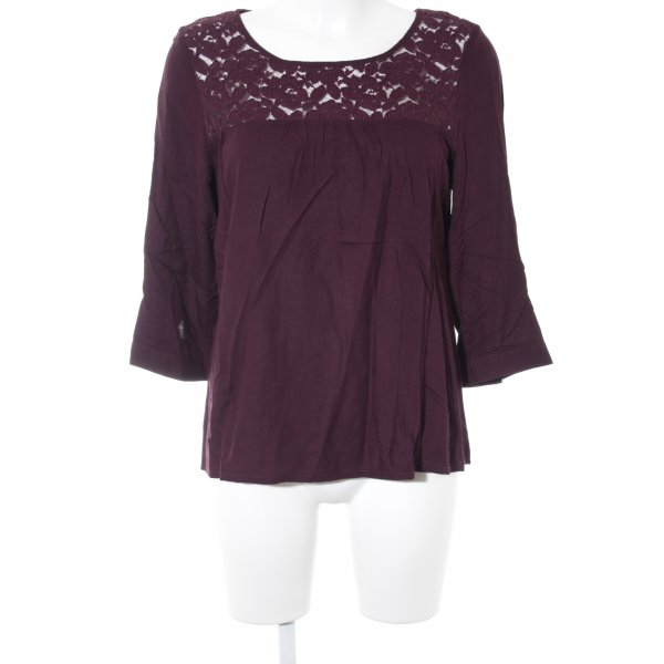 Juicy Couture Spitzenbluse brombeerrot Casual-Look