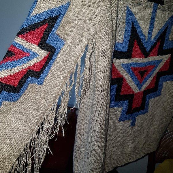 Julie Cardigan indianisch Fransen GrS/M