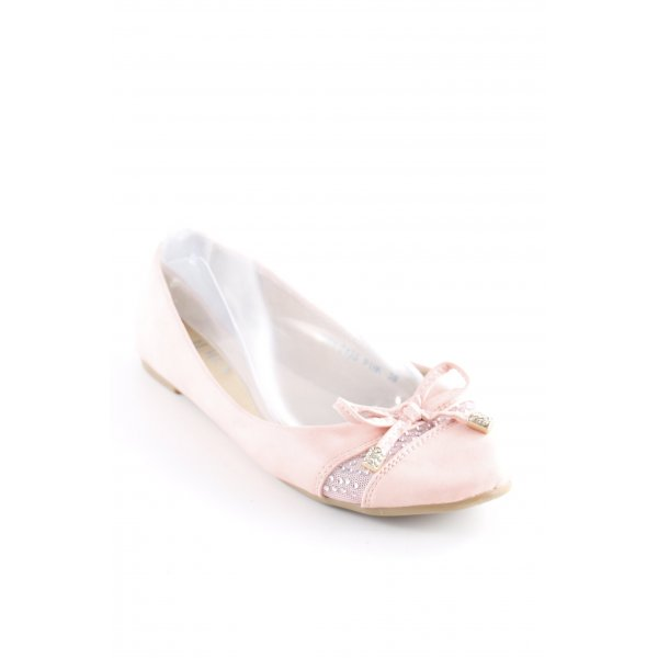 Jumex Patent Leather Ballerinas pink glittery