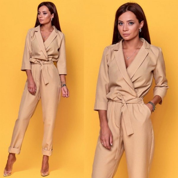 Jumpsuit Overall gr S-M beige