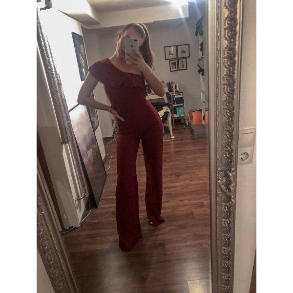 Jumpsuit Zara weinrot