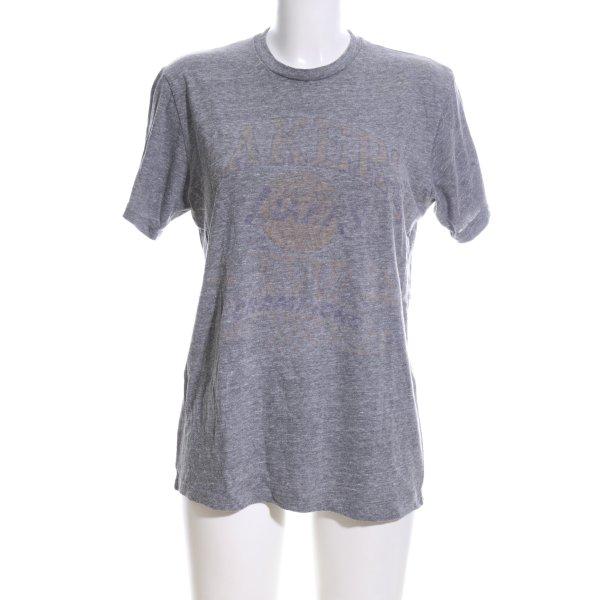 Junk Food T-Shirt hellgrau-blau meliert Casual-Look