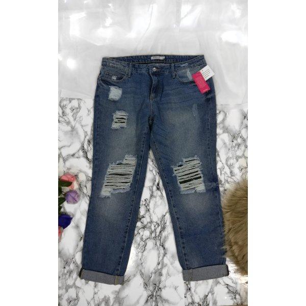 Justfab Destroyed Jeans Boyfriend Jeans Neu