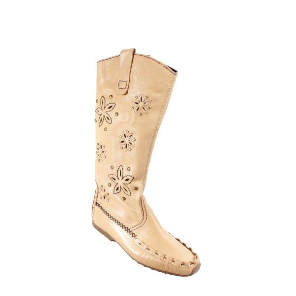 K+S Shoes Halbstiefel beige Mustermix Street-Fashion-Look