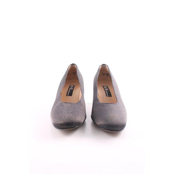 K+S Shoes High Heels schwarz-silberfarben meliert Business-Look