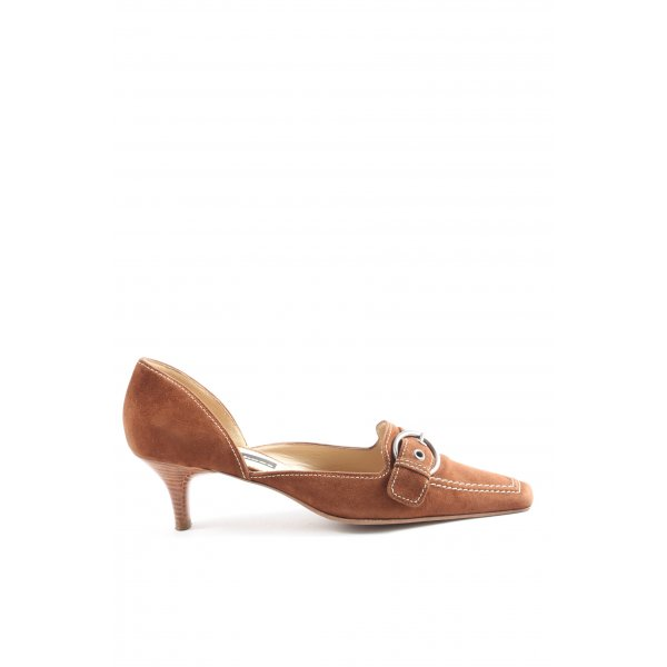 K+S Shoes Spitz-Pumps braun Casual-Look