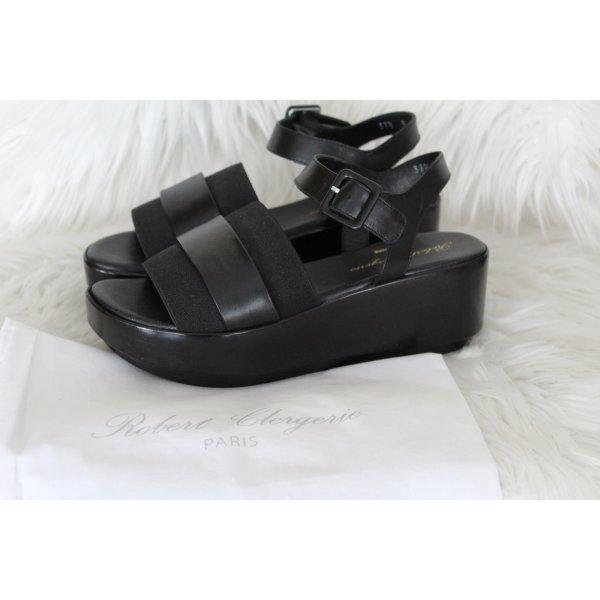 Robert clergerie Plateauzool sandalen zwart