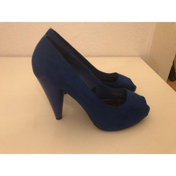 Kaiserblaue Peep toe pumps Zara in 38