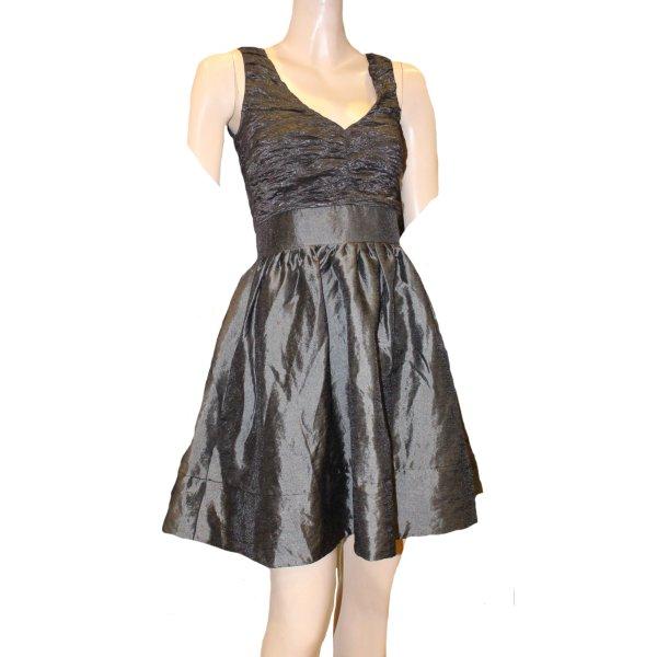 KAREN MILLEN Kleid Rüschen grau Gr. 34
