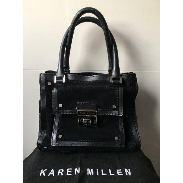 Karen Millen Ledertasche schwarz