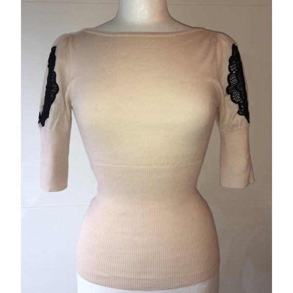 Karen Millen Pullover in puder mit Spitzenapplikationen schwarz