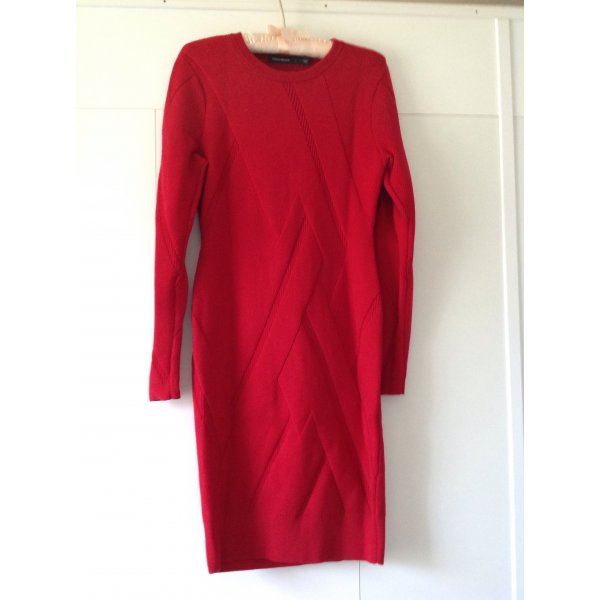 KAREN MILLEN Sexy Rippenstrickkleid in rot Größe L - Neu