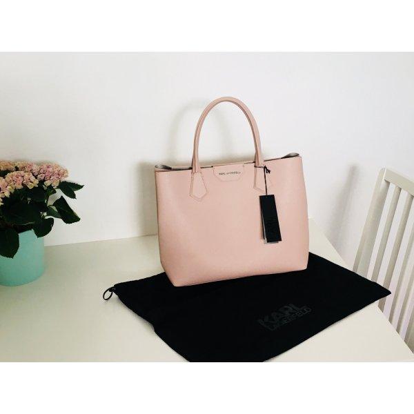 Karl Lagerfeld shopper Tasche Altrosa NEU