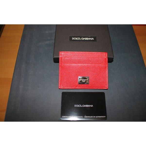 Dolce & Gabbana Kaartetui rood Leer