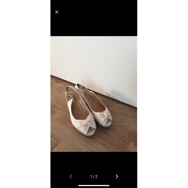 Keilabsatz Sandalen beige Creme