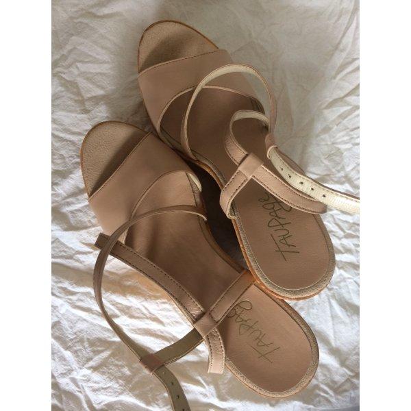 Taupage Platform High-Heeled Sandal cream
